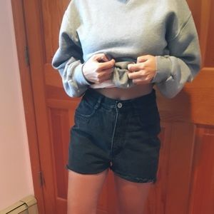 Vintage high waisted gray shorts